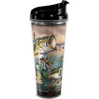 American Expedition Largemouth Bass Collage Tall Acrylic Tumbler