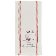 Park Designs Merry Christmas Snowpal Embroidered Dish Towel