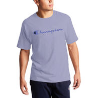 Champion Men's Classic Jersey Script Logo Short-Sleeve T-Shirt