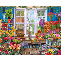 White Mountain Jigsaw Puzzle - Flower Shoppe