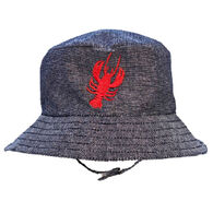 Huggalugs Infant/Toddler Lobster Chambray Bucket Hat
