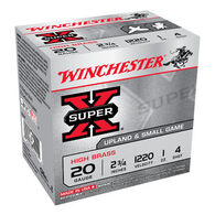 "Winchester Super-X High Brass 20 GA 2-3/4"" 1 oz. #4 Shotshell Ammo (25)"