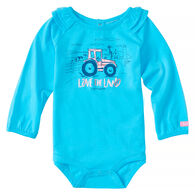 Carhartt Infant/Toddler Girls' Love The Land Long-Sleeve Bodyshirt