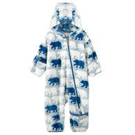 Hatley Infant/Toddler Boys' Polar Bear Silhouettes Fuzzy Fleece Baby Bundler