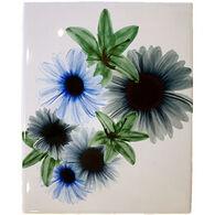 Radiant Art Blue Floral 8 x 10 Tile