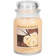 Village Candle Large Glass Jar Candle - Creamy Vanilla