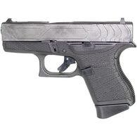 """Glock 43 Custom Slide Tungsten Grey 9mm 3.4"""" 6-Round Pistol"""