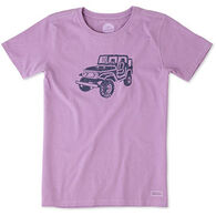 Life is Good Women's Offroad 4x4 Crusher Long-Sleeve T-Shirt