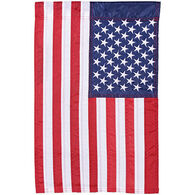 Carson Home Accents American Flag Double Appliqué Garden Flag