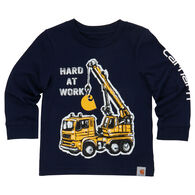 Carhartt Infant/Toddler Boys'  Hard at Work Long-Sleeve T-Shirt