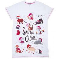 Hatley Women's Santa Claws Sleepshirt