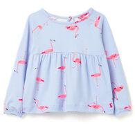 Joules Girl's Flitwell Jersey Printed Short-Sleeve Shirt