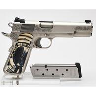 "Nighthawk Custom VIP Nickel Mammoth Grips 45 ACP 5"" 8-Round Pistol - Limited Edition"
