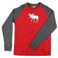 Lazy One Men's Moose Fair Isle Pajama Long-Sleeve T-Shirt