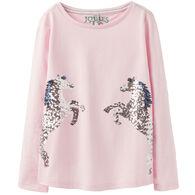 Joules Girl's Ava Applique Long-Sleeve Shirt