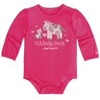 Carhartt Infant/Toddler Girls' Udderly Cute Bodyshirt