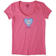 Life is Good Women's Daisy Love Smooth Scoop Short-Sleeve T-Shirt