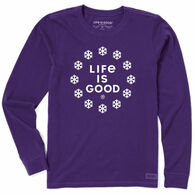 Life is Good Women's Life is Snow Good Crusher Vintage Long-Sleeve T-Shirt