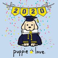 Puppie Love Men's & Women's Graduation Pup Short-Sleeve T-Shirt