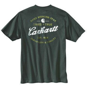 Carhartt Mens Relaxed Fit Heavyweight Pocket Tried and True Graphic Short-Sleeve T-Shirt