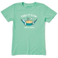 Life is Good Women's Take It Slow Crusher Short-Sleeve T-Shirt