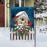 BreezeArt Winter Home Cardinals Garden Flag