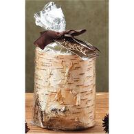 "DecoGLOW Birch Bark Pillar Candle - 3"" x 4"""