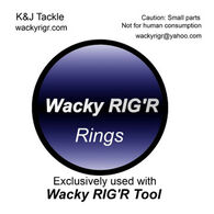 K & J Tackle Wacky Ring - 10 Pk.