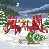 Paperproducts Design Lakeside Holiday Beverage Napkin