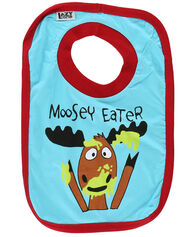 Lazy One Toddler Boy's Moosey Eater Bib