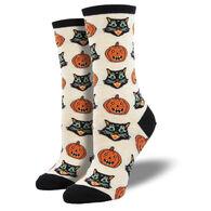 Socksmith Design Women's Vintage Halloween Crew Sock