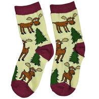 Lazy One Boy's & Girls' Moose Hug Sock