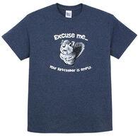 Earth Sun Moon Trading Men's Excuse Me Squirrel Short-Sleeve T-Shirt