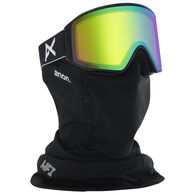 Anon Men's M4 Cylindrical Sonar Snow Goggle + Spare Lens + MFI Facemask