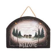 Ohio Wholesale Bear Welcome Slate Sign