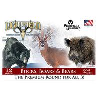 "Lightfield Bucks, Boars & Bears 12 GA 2-3/4"" 465 Grain Sabot Slug Ammo (5)"