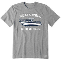 Life is Good Men's Boats Well With Others Crusher Short-Sleeve T-Shirt