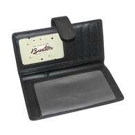 Buxton Women's Hudson Tab Checkbook Keeper