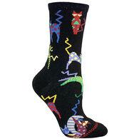 Wheel House Designs Crazy Cat Sock - Black