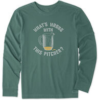 Life is Good Men's What's Wrong With This Pitcher Crusher Long-Sleeve T-Shirt