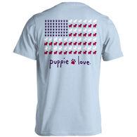 Puppie Love Women's Puppie USA Flag Short-Sleeve T-Shirt