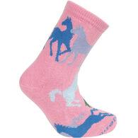 Wheel House Designs Colorful Horses Sock