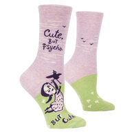 Blue Q Women's Cute But Psycho Crew Sock