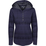 North River Women's Jacquard Knit Henley Hoodie