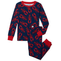 Hatley Toddler Boy's Little Blue House Navy Lobster Pajama Set, 2-Piece
