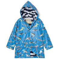 Hatley Boy's Deep Sea Sharks Color Changing Raincoat