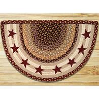 Capitol Earth Burgundy Stars Printed Slice Rug