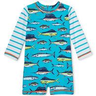 Hatley Infant Boy's Cool Fish Baby Rashguard Long-Sleeve One-Piece
