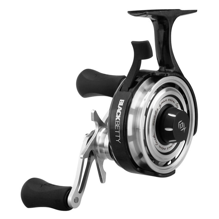 13 fishing black betty freefall ice fishing reel kittery