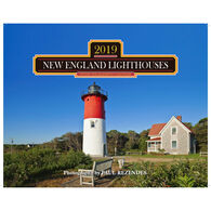 New England Lighthouses 2019 Wall Calendar by Mahoney Publishing